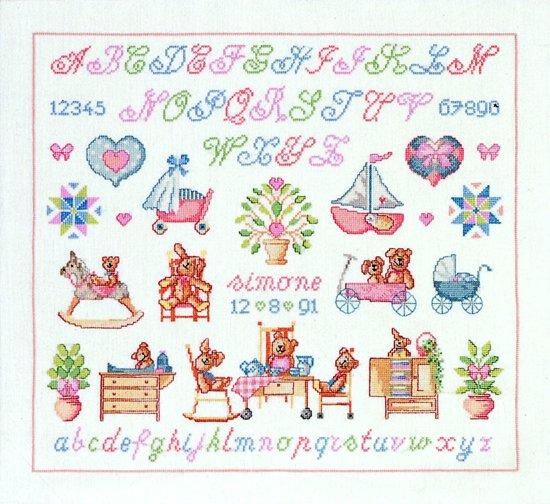 borduurpakket 39-1480 geboorte, a.b.c.