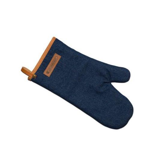 Le Creuset oven handschoen textiel denim