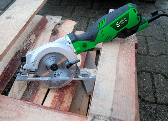 Hofftech Compacte Handcirkelzaag - 600 Watt - Ø115 mm Zaagblad