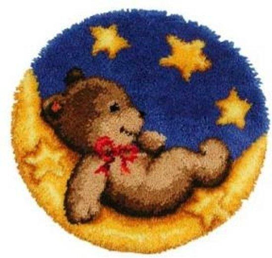 knoopkleed 37.062 beer op maan (kant-en-klaar afgewerkt)