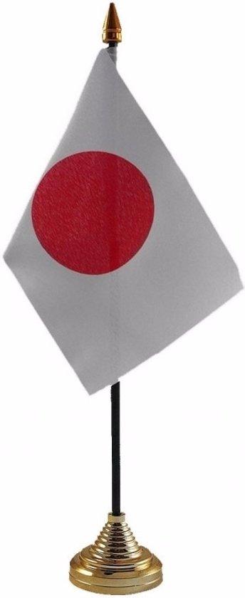 Japan tafelvlaggetje 10 x 15 cm met standaard