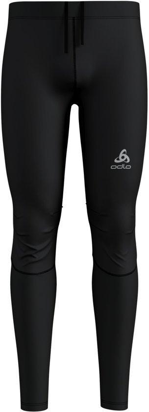 Odlo Tights Zeroweight Windproof Warm Heren Sportbroek - Black - Maat XXL