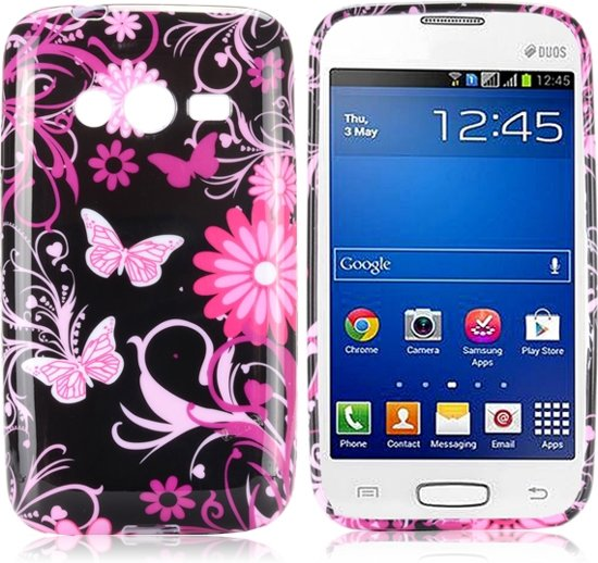 Butterfly zwart Silicone hoesje Samsung Galaxy Ace 4 G313