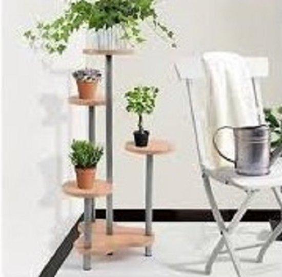 Potten Voor Planten.Bol Com Plantenrek Met 4 Etages Planten Potten Houder Voor 4 Planten