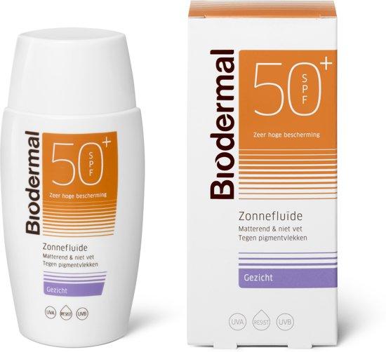 Biodermal Zonnefluide SPF50+ - Beschermende gezichtscrème - 50ml