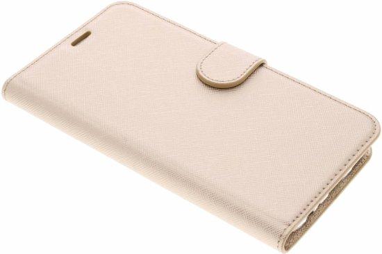 Cas Saffiano De Type Livre Beige Pour Huawei Compagnon 10 Lite 2eHs8G