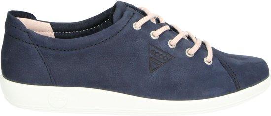 ECCO Soft 2.0 dames sneaker Blauw Maat 40
