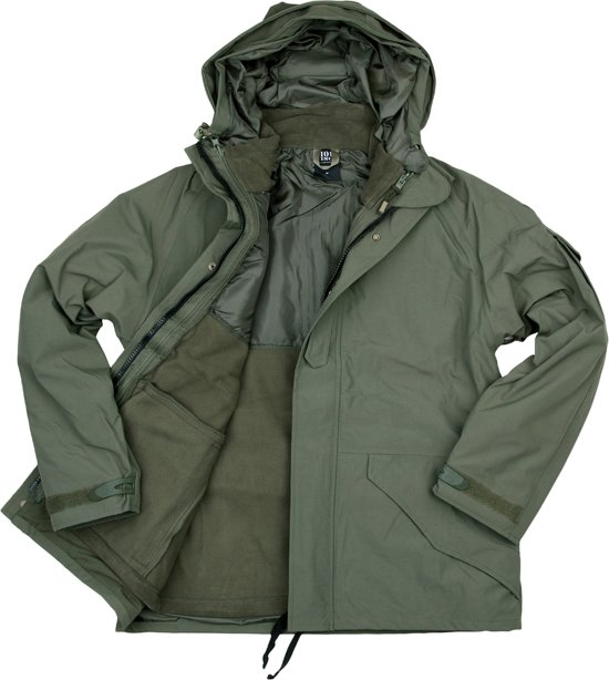 101inc 3in1 Parka Military Waterproof Groen rFrgRqw