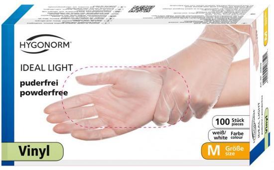 Hygonorm handschoenen vinyl poedervrij maat L 100 stuks categorie 3