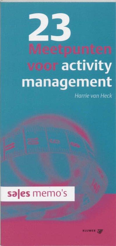 Sales memo's - 23 Meetpunten voor activity management