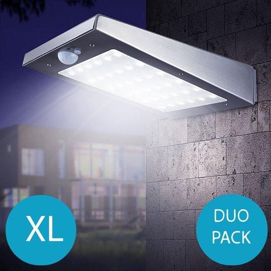 bol.com | RVS draadloze LED solar buiten verlichting - Maat XL - met ...