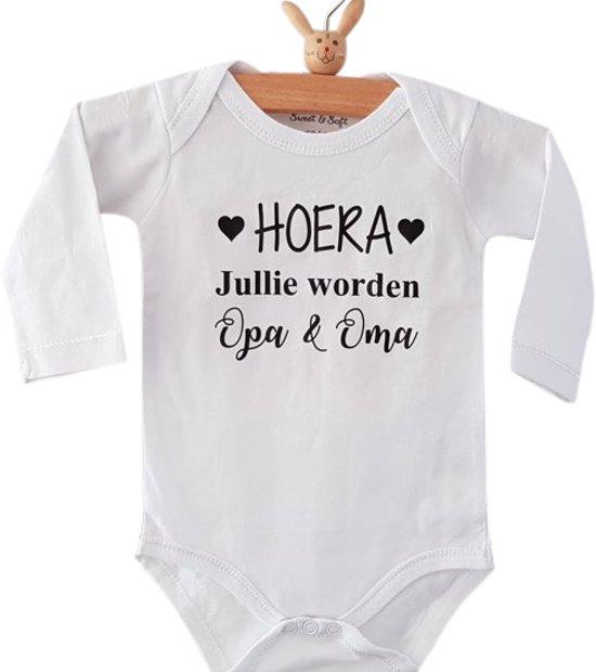 Bolcom Baby Rompertje Hoera Jullie Worden Opa En Oma Lange Mouw