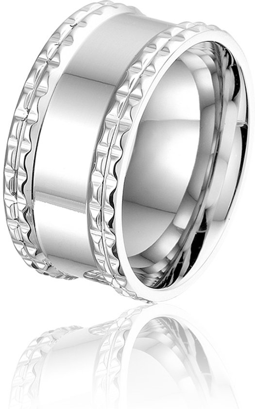 Montebello Ring Hebe - Dames - 316L Staal - 10 mm - maat 54 - 17.2