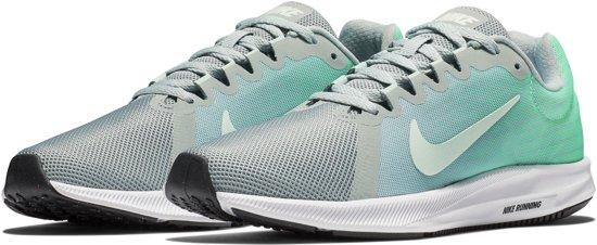 Nike Downshifter 8 Sportschoenen - Maat 38.5 - Vrouwen - grijs/mint groen