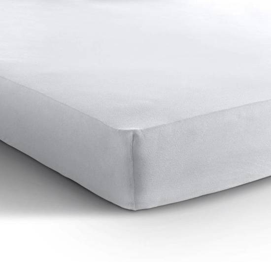 Katoenen Hoeslaken Wit 90x200 - hoekhoogte 25 cm