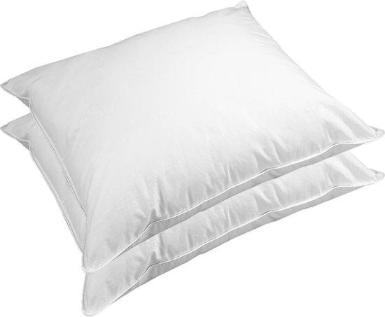Queens Kussenset Luxus - 2 Hoofdkussens - Comfort-O Vezelbolletjes - 60x70 cm