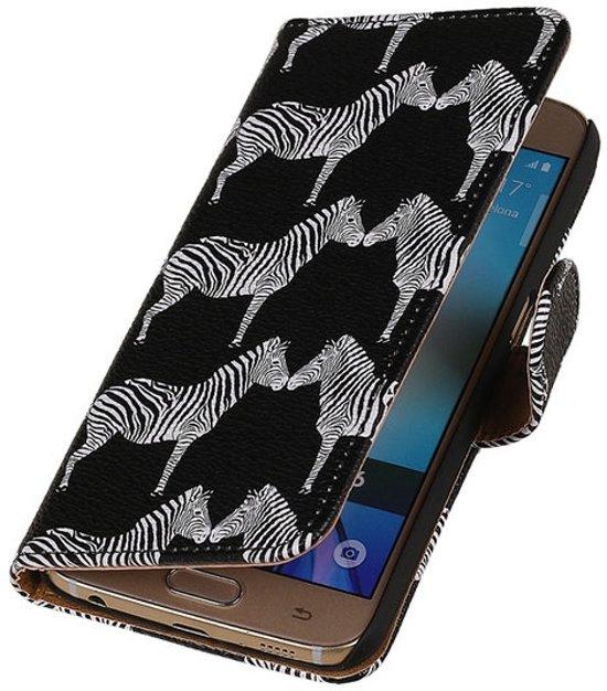 BestCases.nl Zwart Zebra 2 Booktype wallet hoesje voor Apple iPhone 6 / 6s in Alleur
