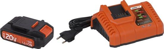 Powerplus Dual Power POWDPSET14 Decoupeerzaag (20V) - starterspakket - (incl. 20V accu en oplader)