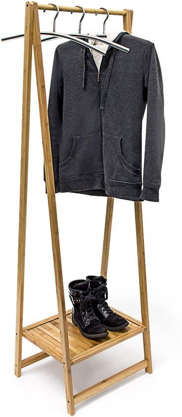 bol | relaxdays kledingrek bamboe hout - houten kleding rek +