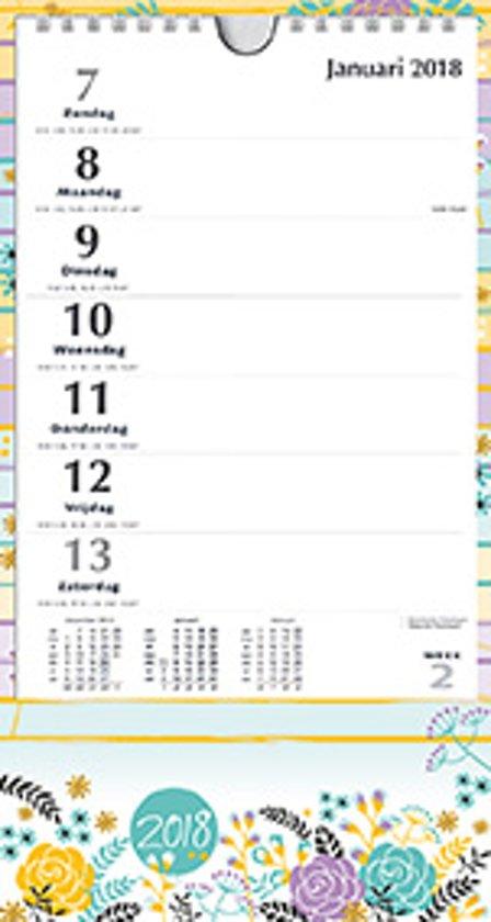 XL Mini Kalender MGP 2018 - Notitie XL mini - Grote letters/cijfers - 1 dag/1 pagina - 16 x 30 cm