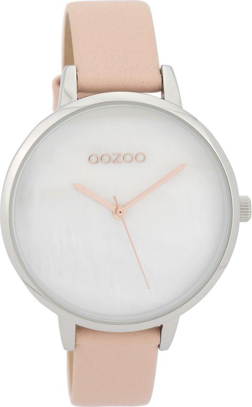 OOZOO Timepieces  Roze/Wit horloge  (40 mm) - Roze