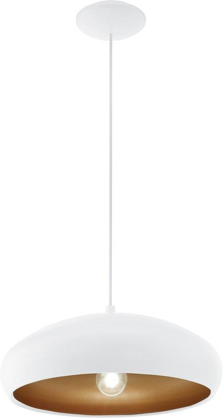 EGLO Mogano 1 - Hanglamp - 1 Lichts - Ø400mm. - Wit, Koper