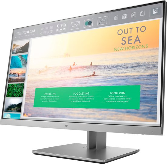 HP EliteDisplay E233 23'' Full HD LED Zwart, Zilver computer monitor