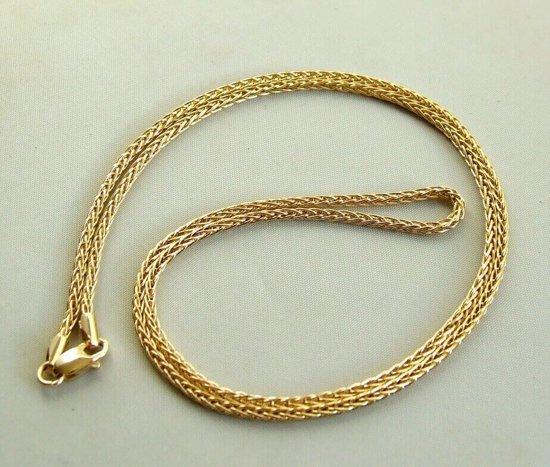 14 karaat geel gouden Christian collier