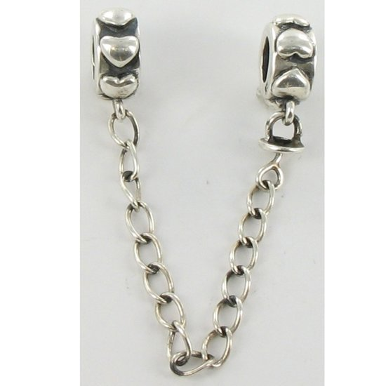 Quiges Bedel Bead - 925 Zilver - Safety Ketting Kraal Charm - Z648