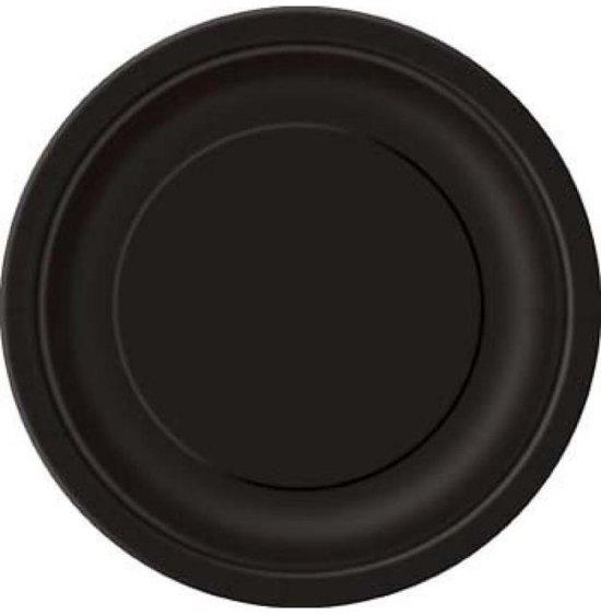 Zwarte Bordjes 18cm 8 stuks