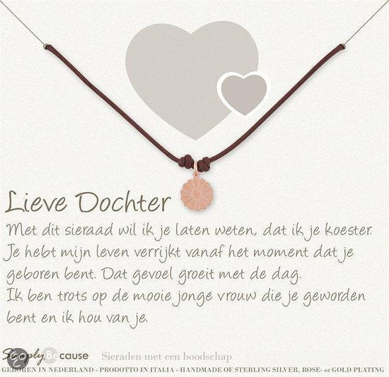 dochter 18 jaar bol.| Simply Because Lieve Dochter! Wax armband (roségoud  dochter 18 jaar