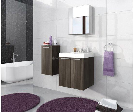 Bol badkamermeubel londen inclusief spiegelkast donker eiken