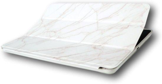 iPad 2/3/4 Luxe Smartcase - Bescherm Hoes - Marmer Wit - voor de iPad 2/3/4 in Grobbendonk