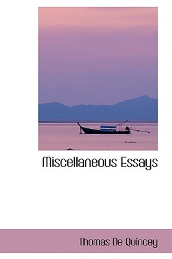de quincey essays