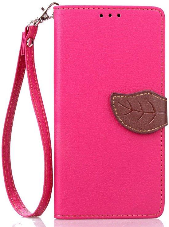 Shop4 - Samsung Galaxy S7 Edge Hoesje - Wallet Case Lychee Leaf Roze in De Paauwen