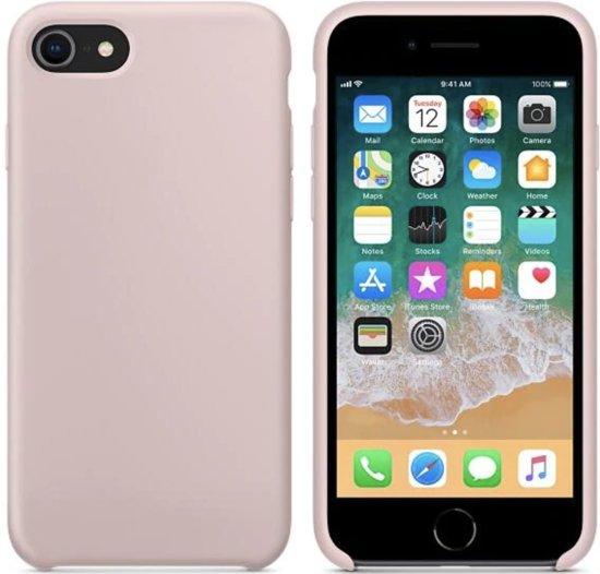 86d22eebf78 Luxe siliconen hoesje - zand roze - voor Apple iPhone 7 en iPhone 8 -  rozenkwarts