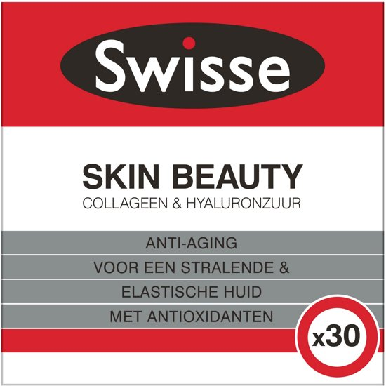 Swisse Skin Beauty Collageen & Hyaluronzuur Voedingssupplement - 30 stuks