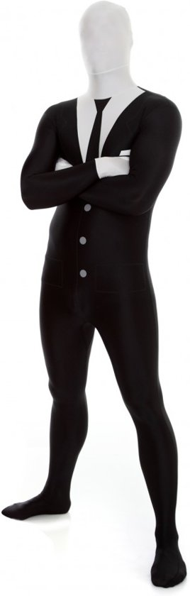 Morphsuits™ Slenderman / Suit - SecondSkin - Verkleedkleding - 163/175
