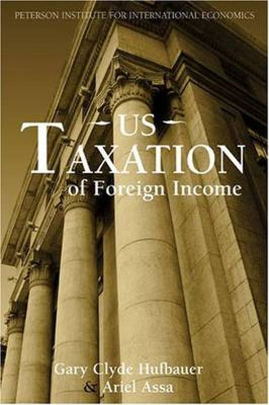 US Taxation of Foreign Income