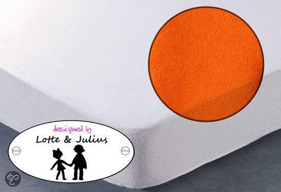 Lotte & Julius hoeslaken badstof 90x200cm  oranje
