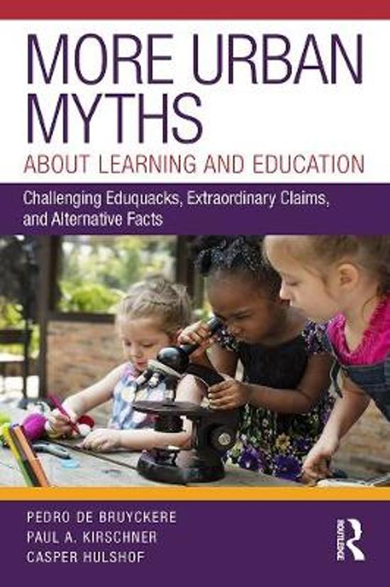 More Urban Myths About Learning and Education