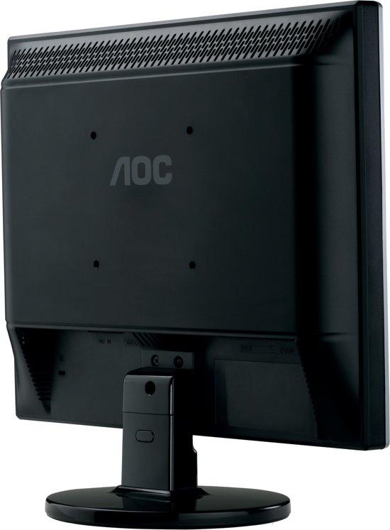 AOC e719Sda 17'' Zwart, Zilver computer monitor