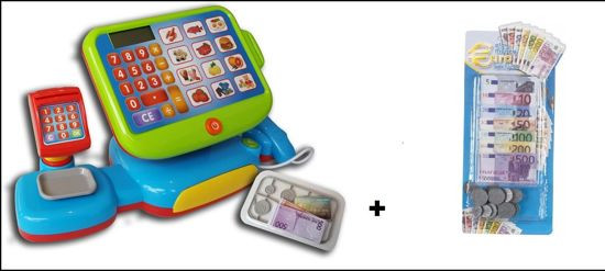 Betere bol.com | Touchscreen Speelgoed Kassa met Scanner +Euro geld IY-88