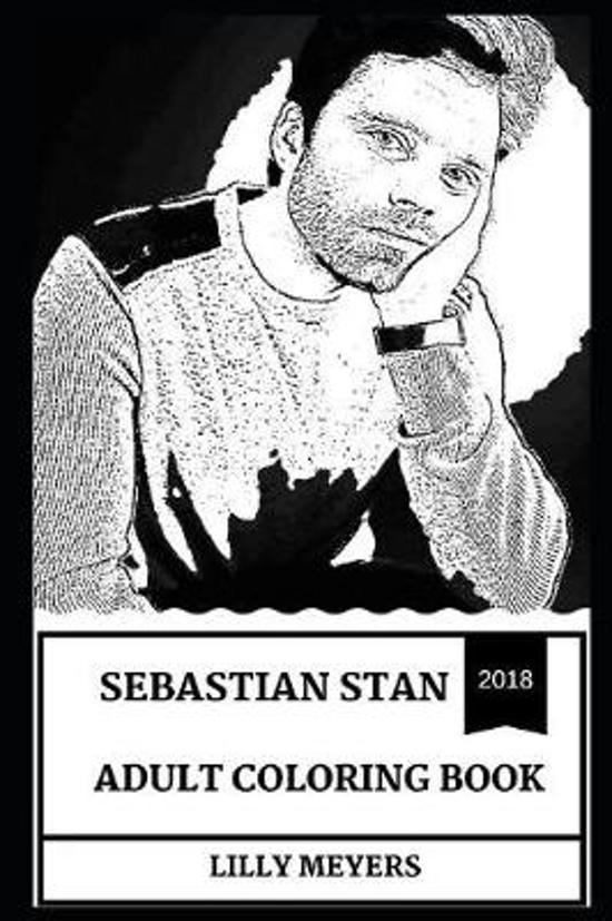 Sebastian Stan Adult Coloring Book