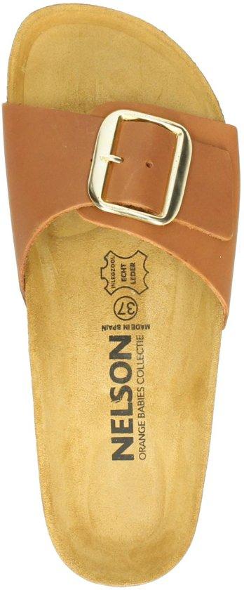 Nelson dames slipper - Cognac