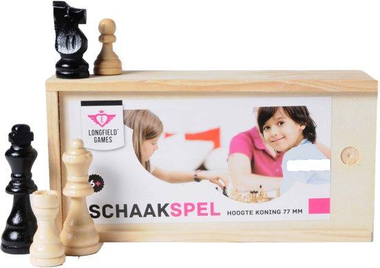 Afbeelding van Schaakstukken In Kistje Koning 77mm - Essenhout speelgoed