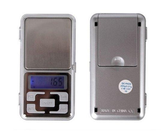 Uiterst Nauwkeurig Precisie Weegschaal 0,01 tot 200 gram - Pocket Mini ( Keuken ) Weegschaal - 0,01 tot 200 Gram - Mini Digitaal Zakweegschaal / Weegschaaltje