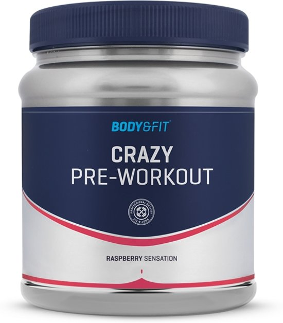 Body & Fit Crazy Pre-Workout - 407 gram (37 doseringen) - Raspberry Sensation