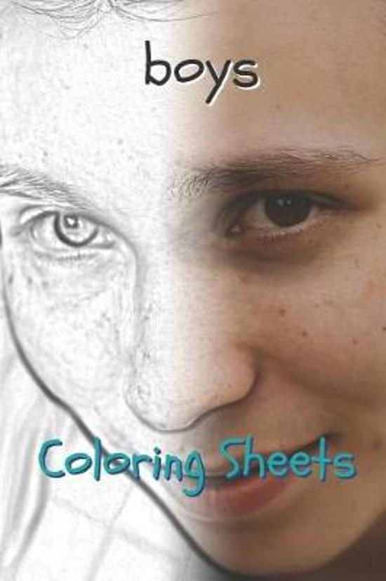 Boy Coloring Sheets