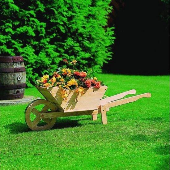 Plantenbak houten kruiwagen - Deco en de tuin ...